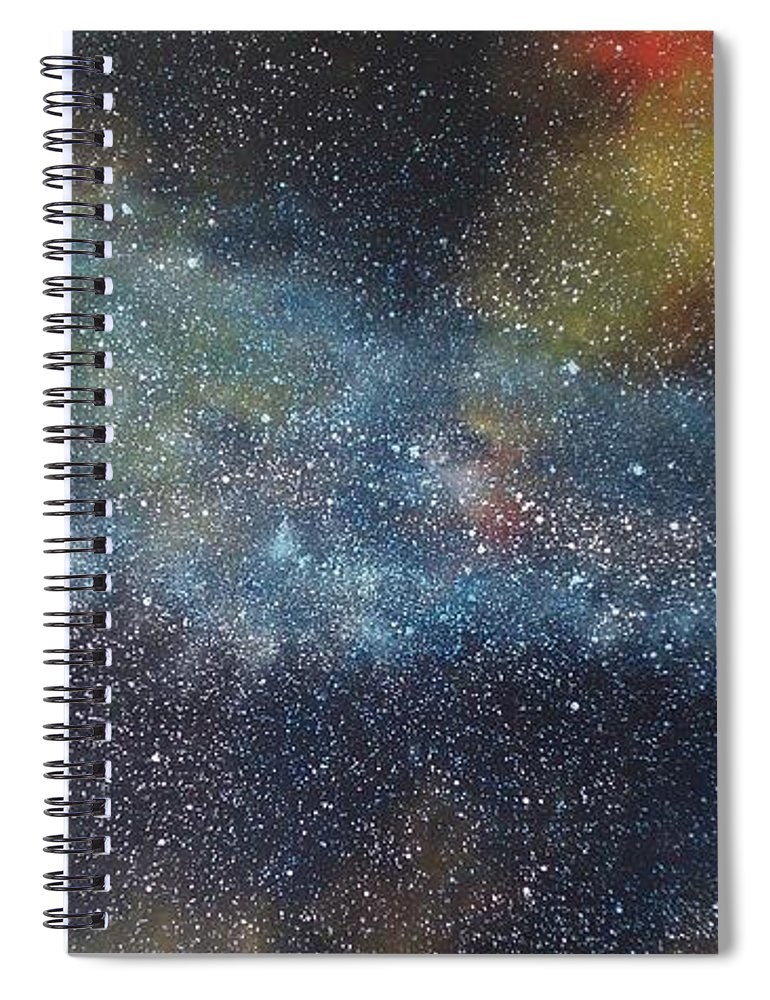 Oil Painting On Canvas Spiral Notebook featuring the painting Stargasm by Sean Connolly
