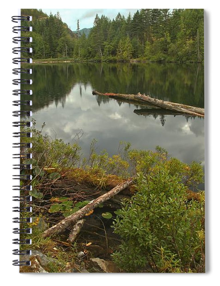 Starvation Lake Spiral Notebook featuring the photograph Starvation Lake - British Columbia by Adam Jewell
