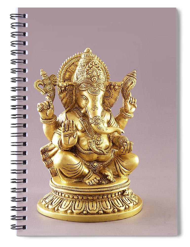 Spirituality Spiral Notebook featuring the photograph Statue Of Lord Ganesh by Visage