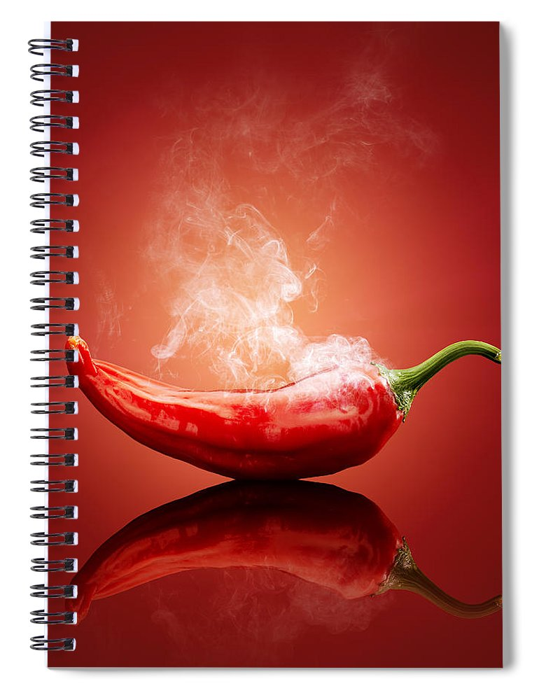 Chilli Spiral Notebook featuring the photograph Steaming hot Chilli by Johan Swanepoel