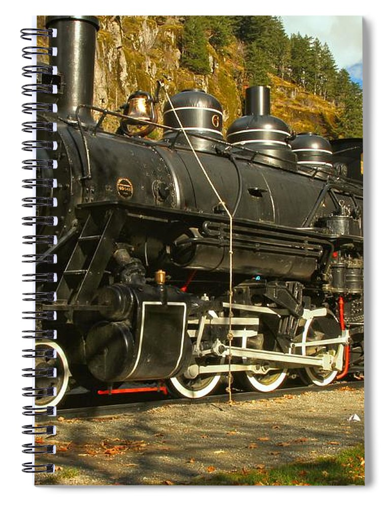 Newhalem Spiral Notebook featuring the photograph Steaming Through The Fall by Adam Jewell