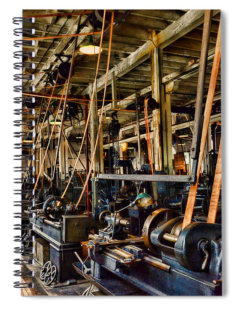 Paul Ward Spiral Notebook featuring the photograph Steampunk - The Age Of Industry by Paul Ward