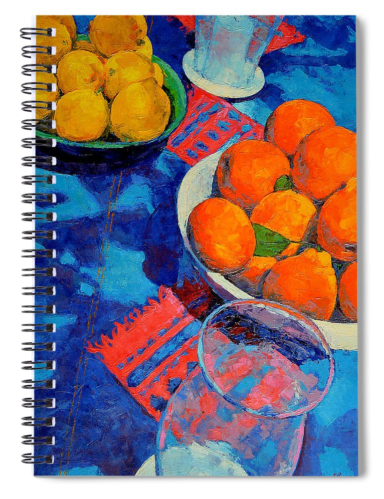 Still Life Spiral Notebook featuring the painting Still Life 2 by Iliyan Bozhanov