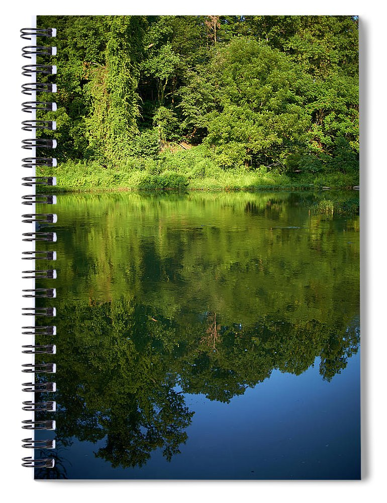 Tranquility Spiral Notebook featuring the photograph Still Water On The Potomac River by Cameron Davidson