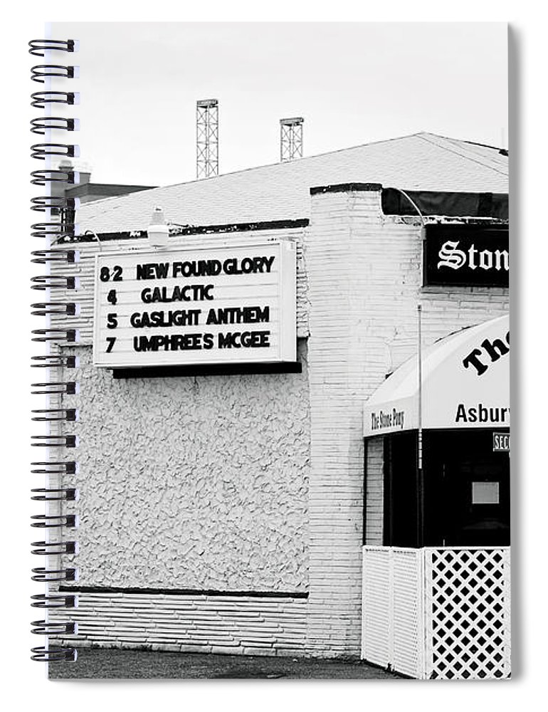Stone Pony Spiral Notebook featuring the photograph Stone Pony Asbury Park NJ by Terry DeLuco