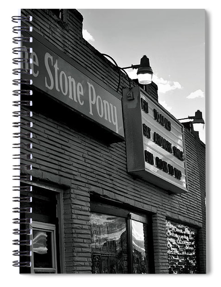 Stone Pony Asbury Park Side View Spiral Notebook featuring the photograph Stone Pony Asbury Park Side View by Terry DeLuco