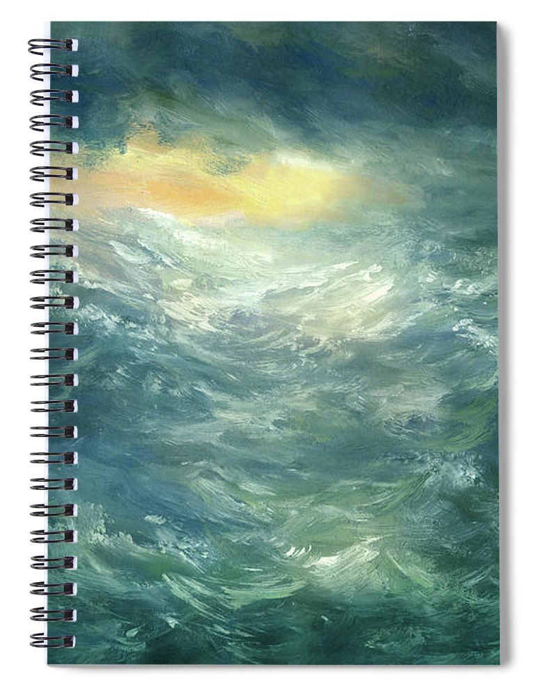 Scenics Spiral Notebook featuring the digital art Storm Is Coming by Pobytov
