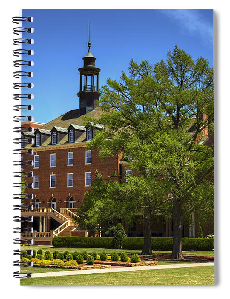 Oklahoma Spiral Notebook featuring the photograph Student Union At Oklahoma State by Ricky Barnard