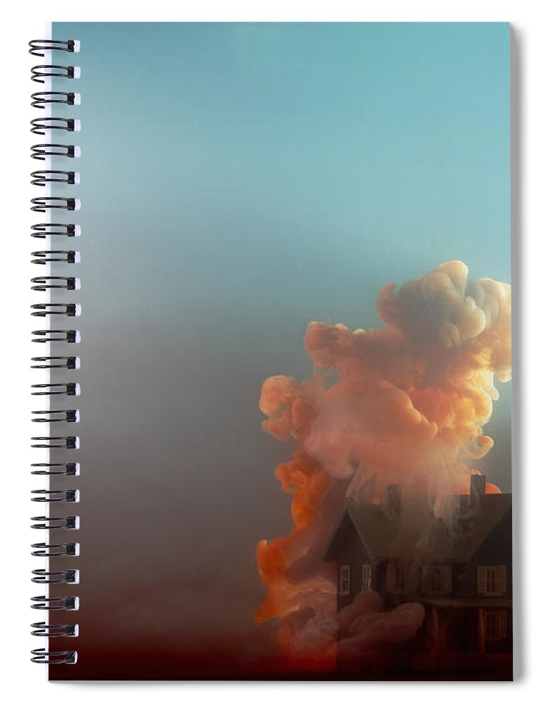Model House Spiral Notebook featuring the photograph Submerged House by Paul Taylor