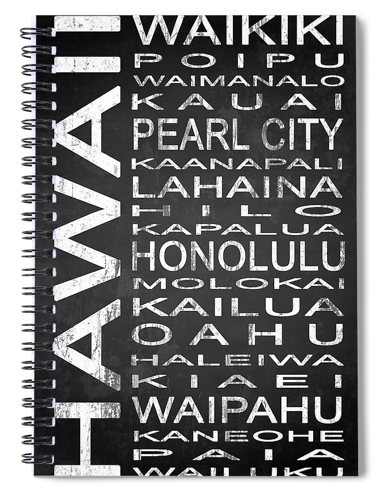 Subway Sign Spiral Notebook featuring the digital art Subway Hawaii State 1 by Melissa Smith