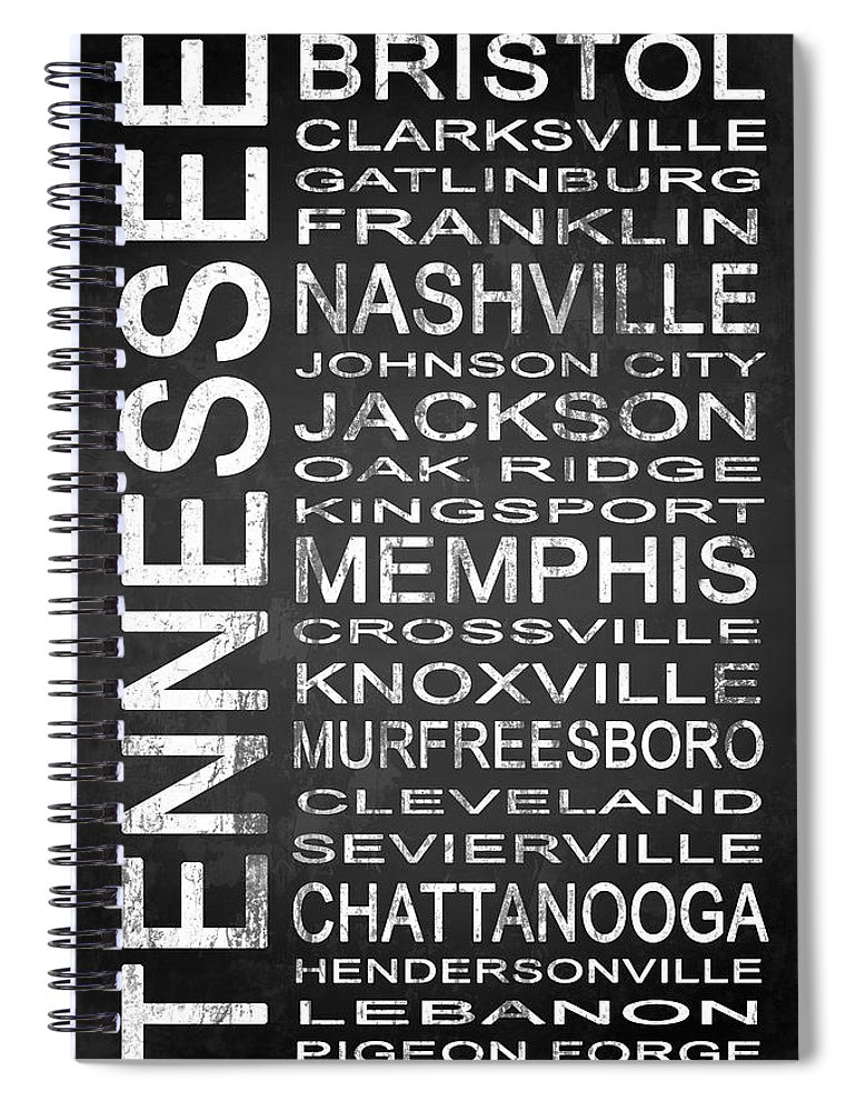 Subway Sign Spiral Notebook featuring the digital art Subway Tennessee State 1 by Melissa Smith
