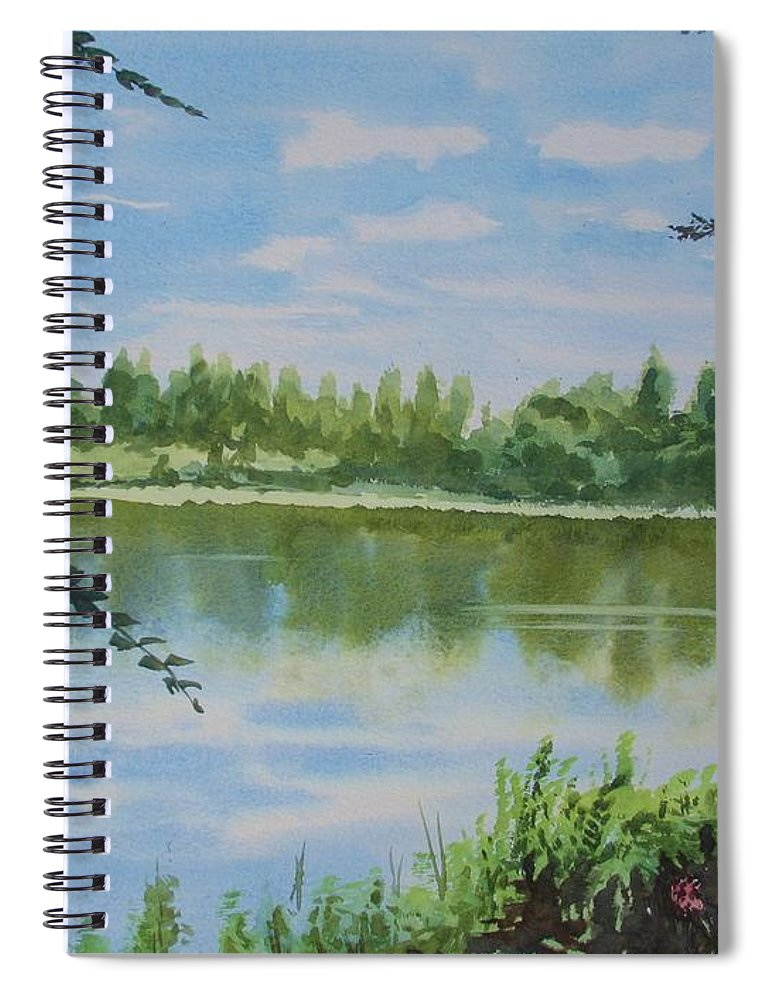 Summer By The River Spiral Notebook featuring the painting Summer By The River by Martin Howard
