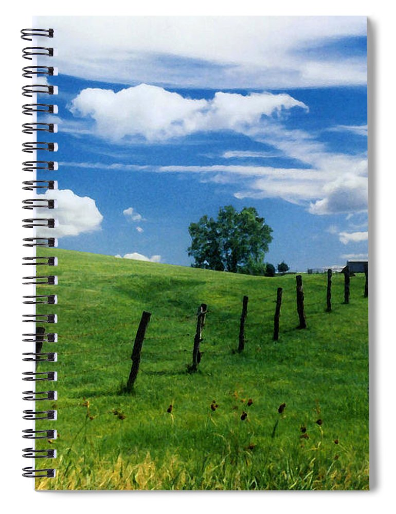Summer Landscape Spiral Notebook featuring the photograph Summer Landscape by Steve Karol