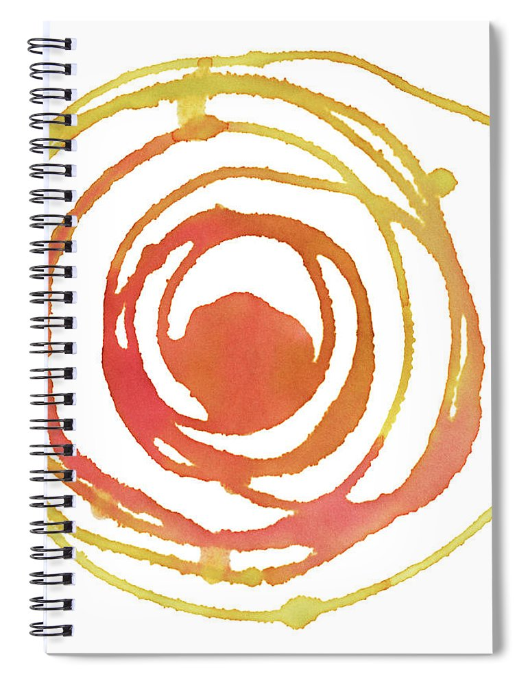 Watercolor Painting Spiral Notebook featuring the digital art Sun Circle Abstract Water Color Paint by 4khz