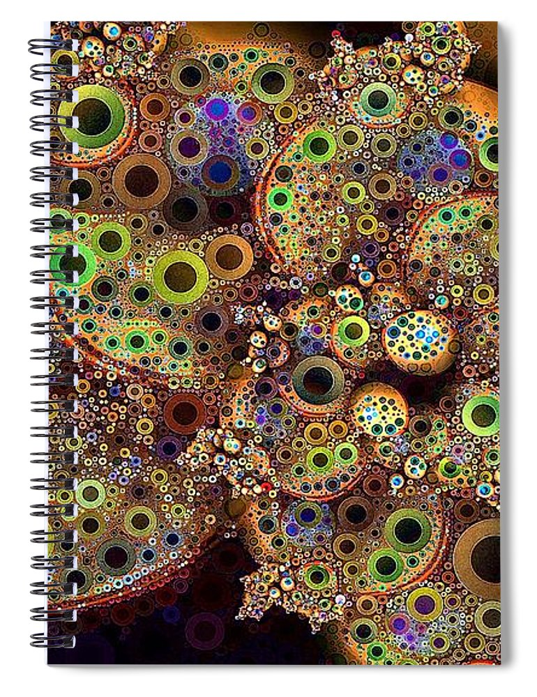Collage Spiral Notebook featuring the digital art Sun Dogs by Ron Bissett