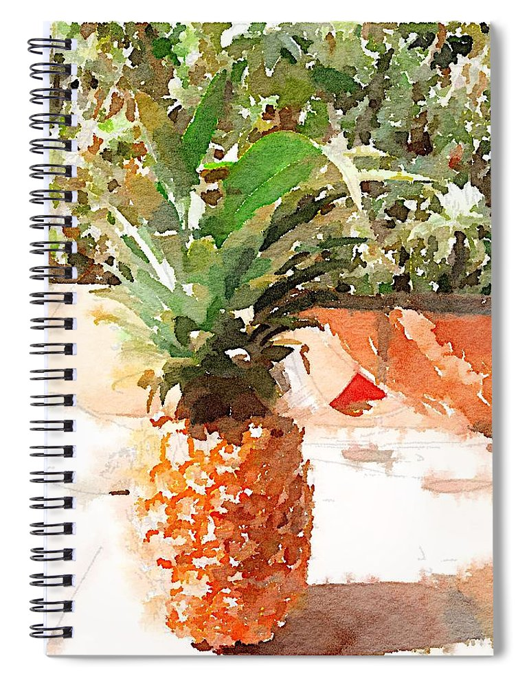 Pineapple Spiral Notebook featuring the digital art Sunday Brunch by Shannon Grissom