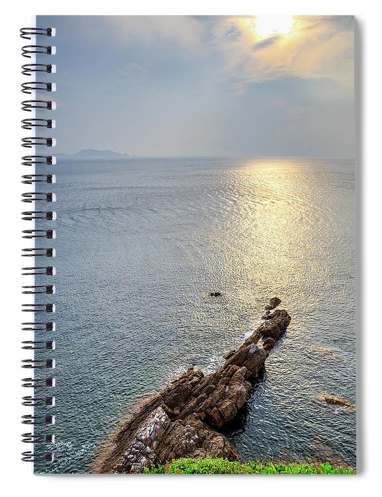 Scenics Spiral Notebook featuring the photograph Sunrise Over The Coast Of Shenzhen by Feng Wei Photography