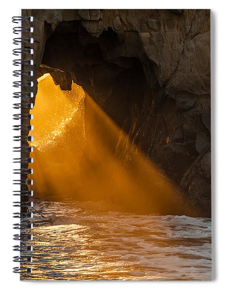 Big Sur Spiral Notebook featuring the photograph Sunset At Pfeiffer Beach by George Buxbaum