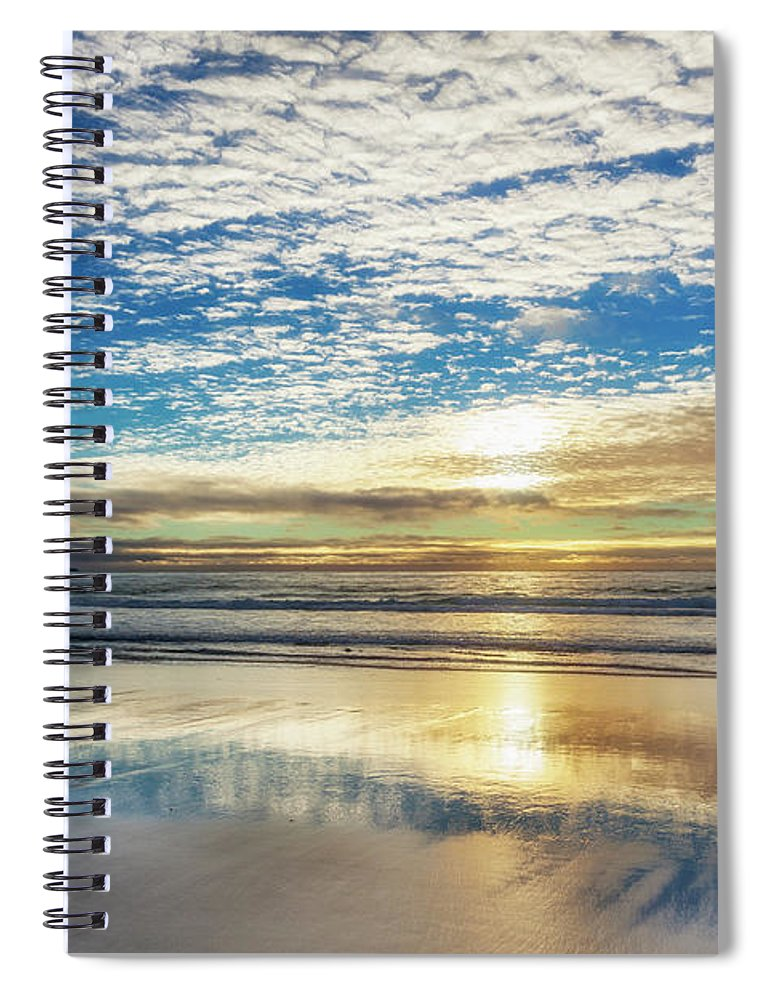Tranquility Spiral Notebook featuring the photograph Sunset On Carmel Beach, California by Alvis Upitis