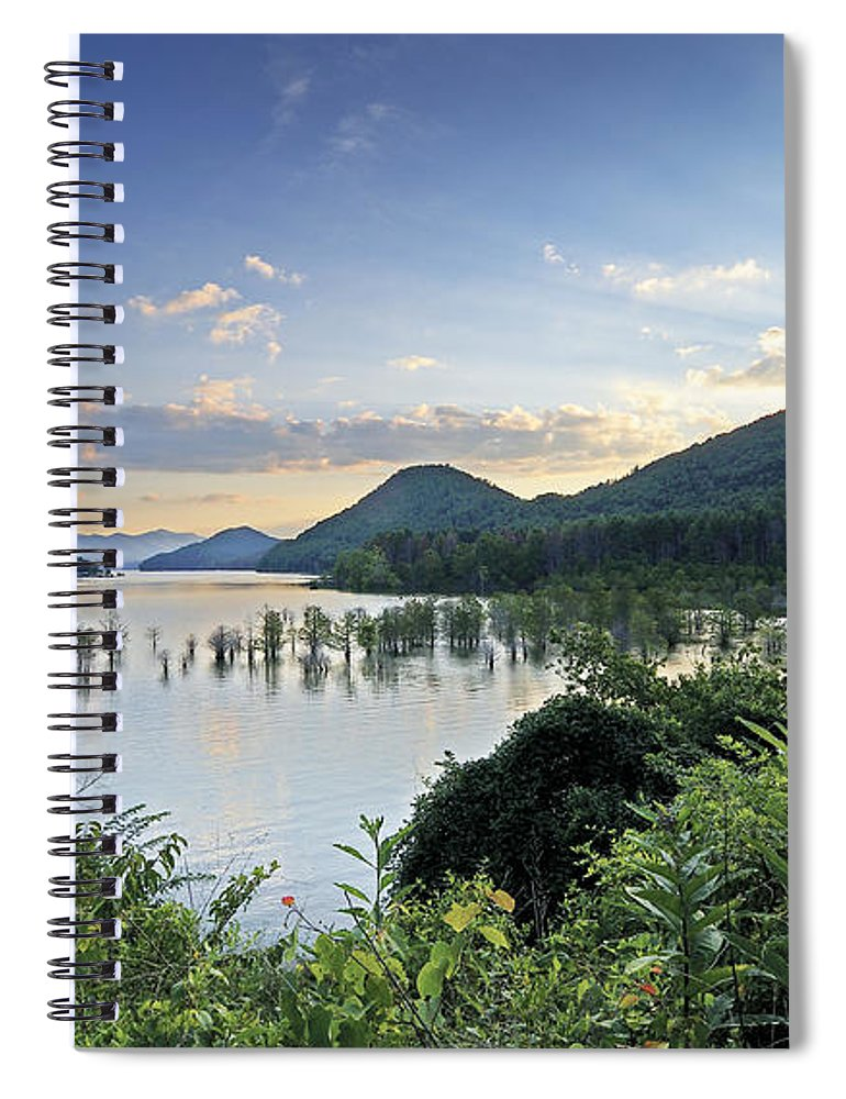 watauga Lake Tennessee Spiral Notebook featuring the photograph Sunset Over Watauga Lake - Tennessee by Brendan Reals