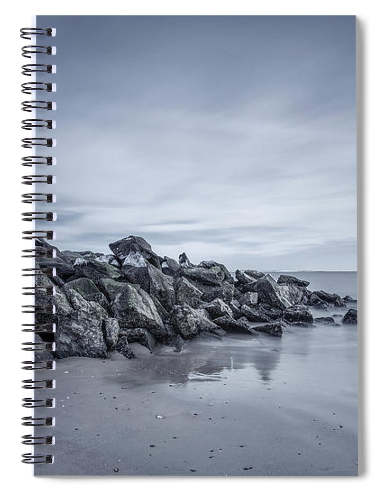 Brighton Beach Spiral Notebook featuring the photograph Surrender To The Sea by Evelina Kremsdorf