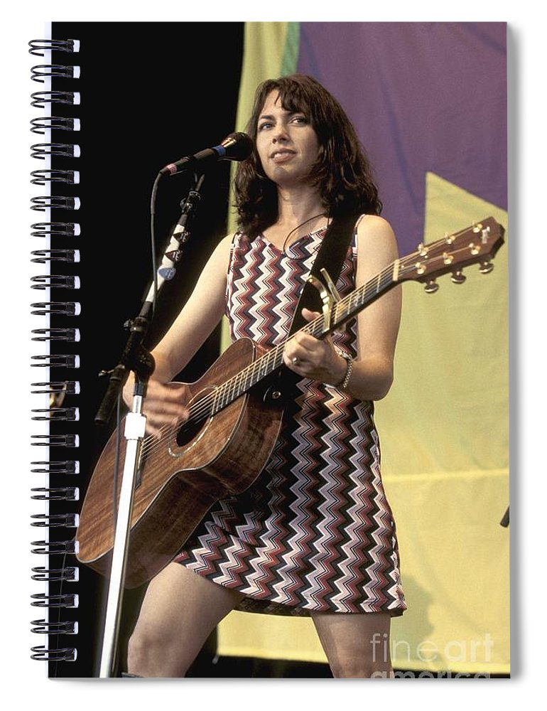 Performing Spiral Notebook featuring the photograph Susanna Hoffs by Concert Photos