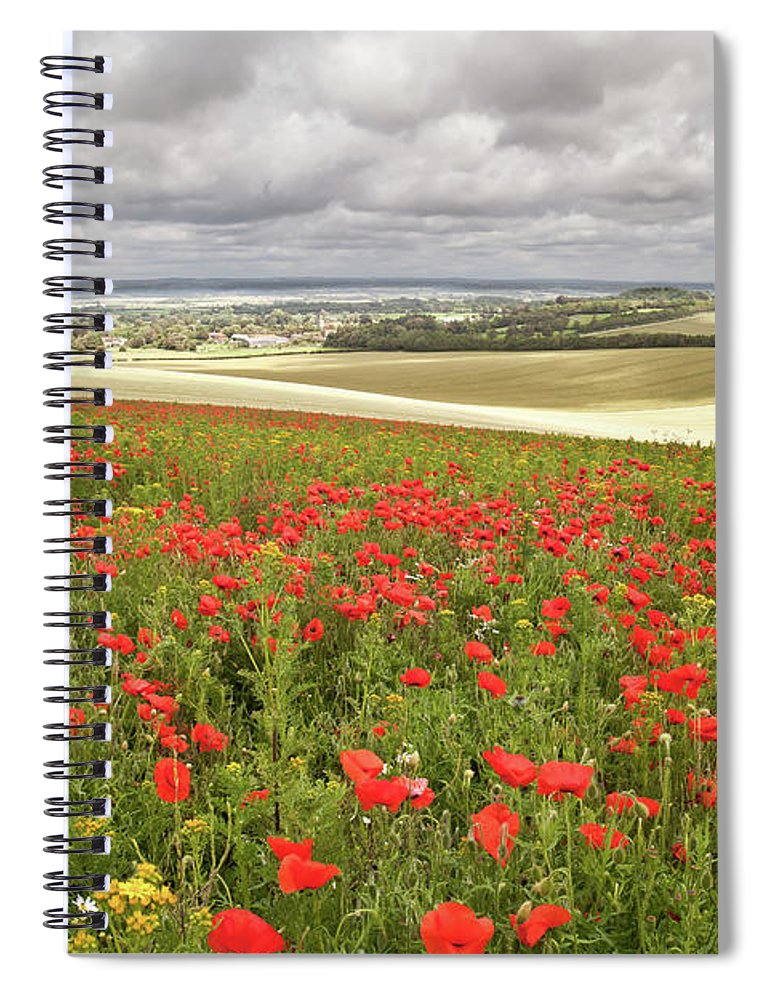 Scenics Spiral Notebook featuring the photograph Sweeping Golden Fields by Getty Images