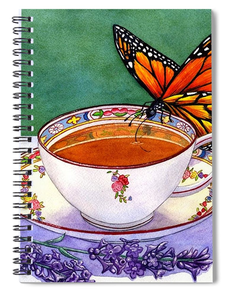 Butterfly Spiral Notebook featuring the painting Sweet by Catherine G McElroy