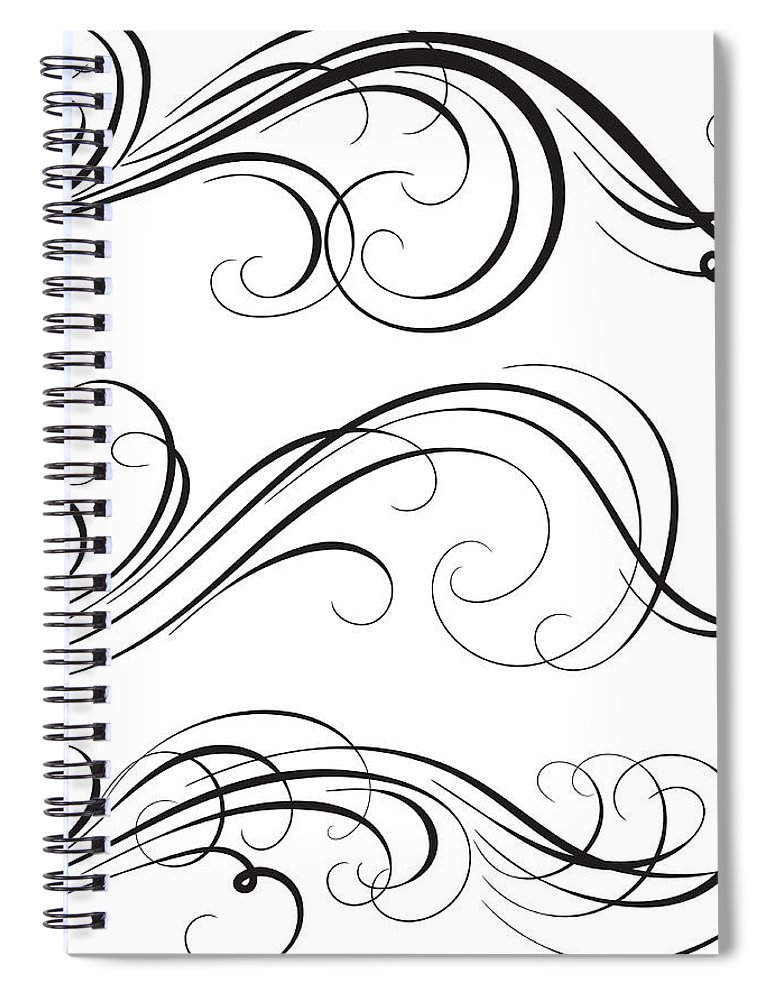 Curve Spiral Notebook featuring the digital art Swirl by Mashuk