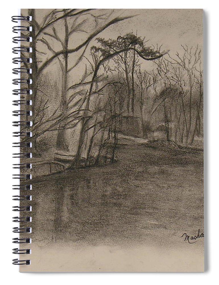 Sylvan Lake Spiral Notebook featuring the painting Sylvan Lake Plein Aire by Sheila Mashaw