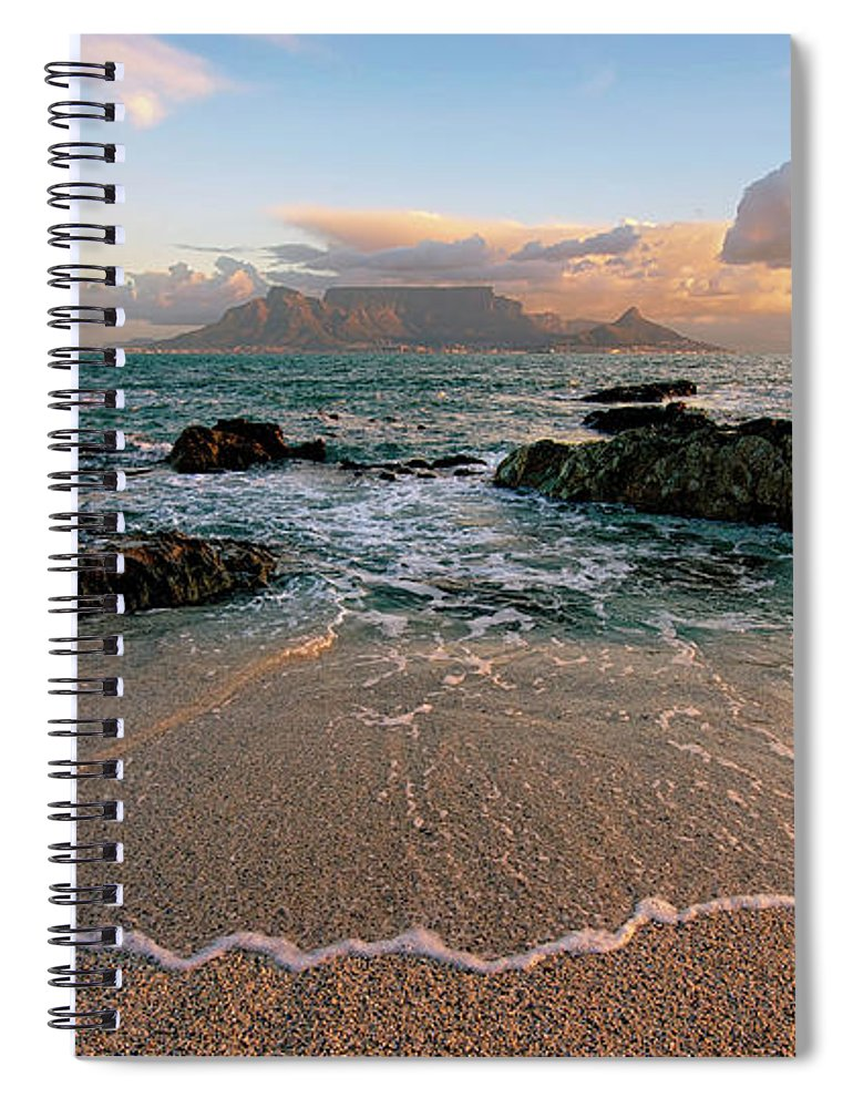 Tranquility Spiral Notebook featuring the photograph Table Mountain Wave Fan by Paul Bruins Photography