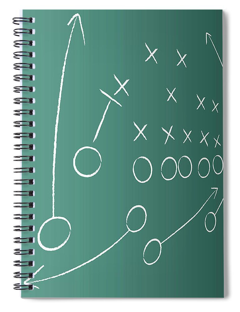 Strategy Spiral Notebook featuring the digital art Tactical Plan by Lvcandy