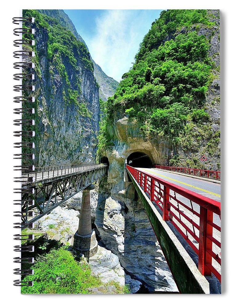 Built Structure Spiral Notebook featuring the photograph Taroko Gorge by Photography By Anthony Ko