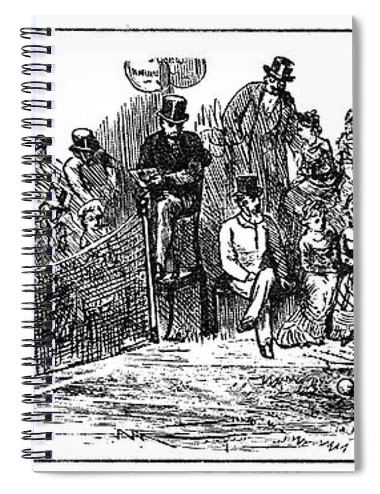 1879 Spiral Notebook featuring the painting Tennis Wimbledon, 1879 by Granger