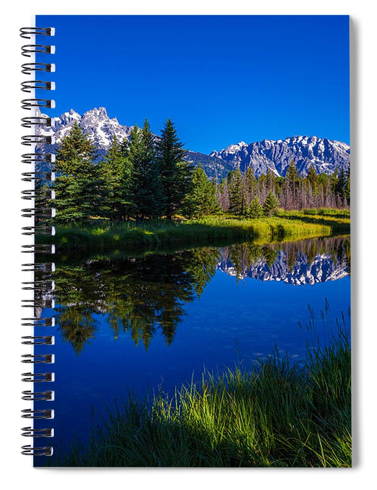 Teton Reflection Spiral Notebook featuring the photograph Teton Reflection by Chad Dutson