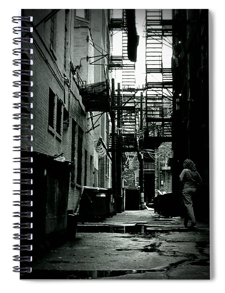 City Spiral Notebook featuring the photograph The Alleyway by Michelle Calkins