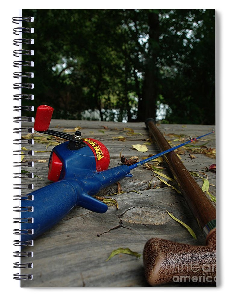 Angling Spiral Notebook featuring the photograph The Anglers by Peter Piatt