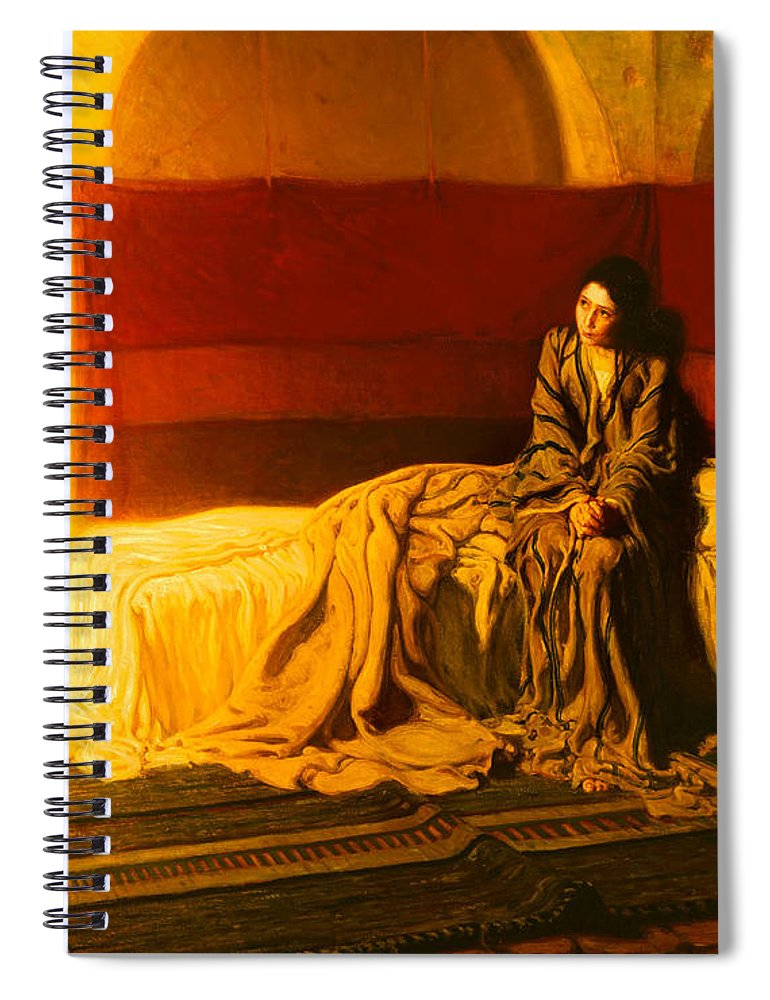 Painting Spiral Notebook featuring the painting The Annunciation by Mountain Dreams