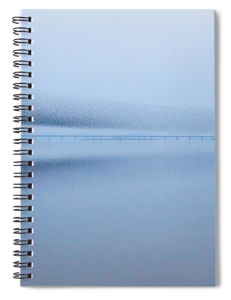 Scenics Spiral Notebook featuring the photograph The Baikal Teals 2 by Penboy