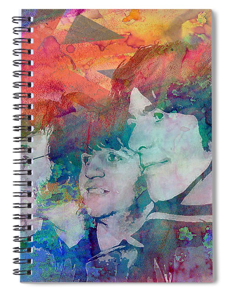 Ar Spiral Notebook featuring the painting The Beatles Original Painting Print by Ryan Rock Artist