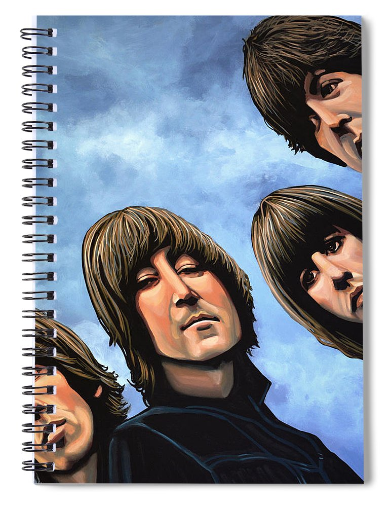 The Beatles Spiral Notebook featuring the painting The Beatles Rubber Soul by Paul Meijering