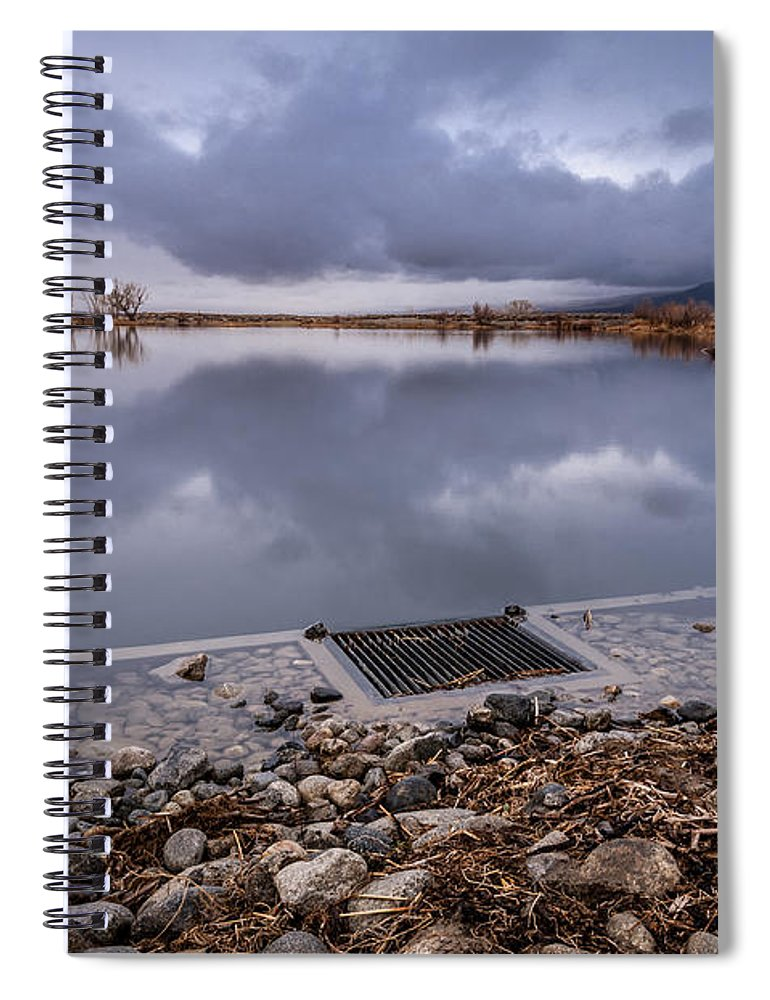 Pond Spiral Notebook featuring the photograph The Big Drain by Cat Connor