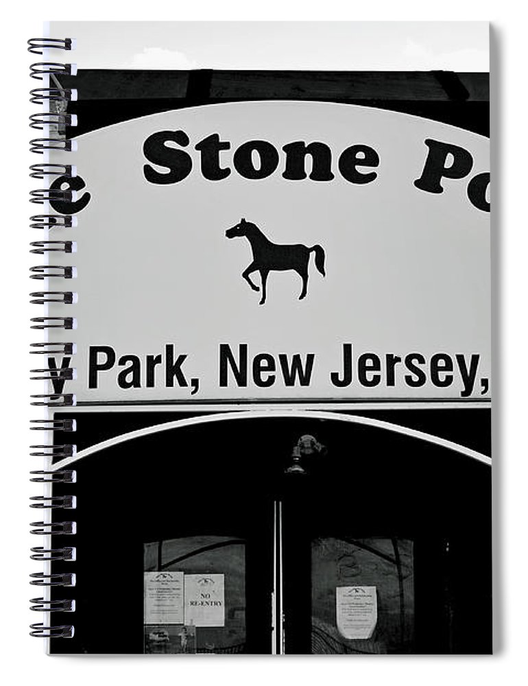 The Boss Stone Pony Asbury Park Spiral Notebook featuring the photograph The Boss Stone Pony Asbury Park by Terry DeLuco