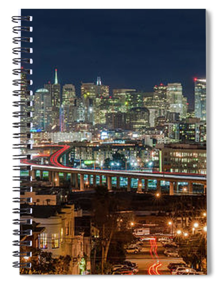Tranquility Spiral Notebook featuring the photograph The Breath Taking View Of San Francisco by Www.35mmnegative.com