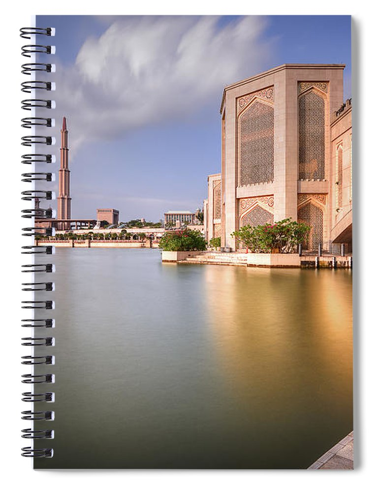 Tranquility Spiral Notebook featuring the photograph The Bridge And The Mosque by Khasif Photography