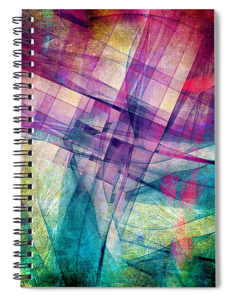 Buildings Block Spiral Notebook featuring the digital art The Building Blocks by Angelina Tamez