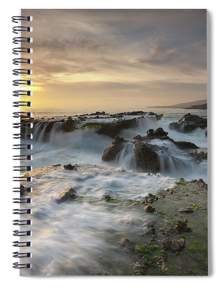 Scenics Spiral Notebook featuring the photograph The Cauldron - Victoria Beach by Images By Steve Skinner Photography