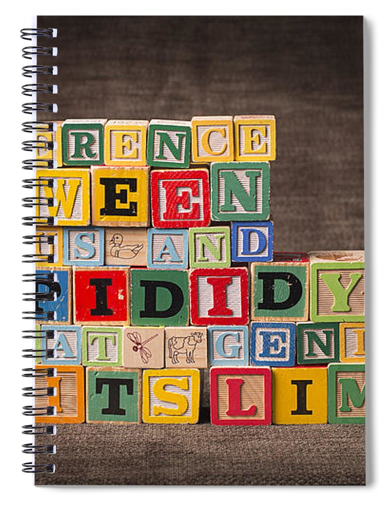 The Difference Between Genius And Stupidity Is That Genius Has Its Limits Spiral Notebook featuring the photograph The Difference Between Genius and Stupidity Is That Genius Has Its Limits by Art Whitton