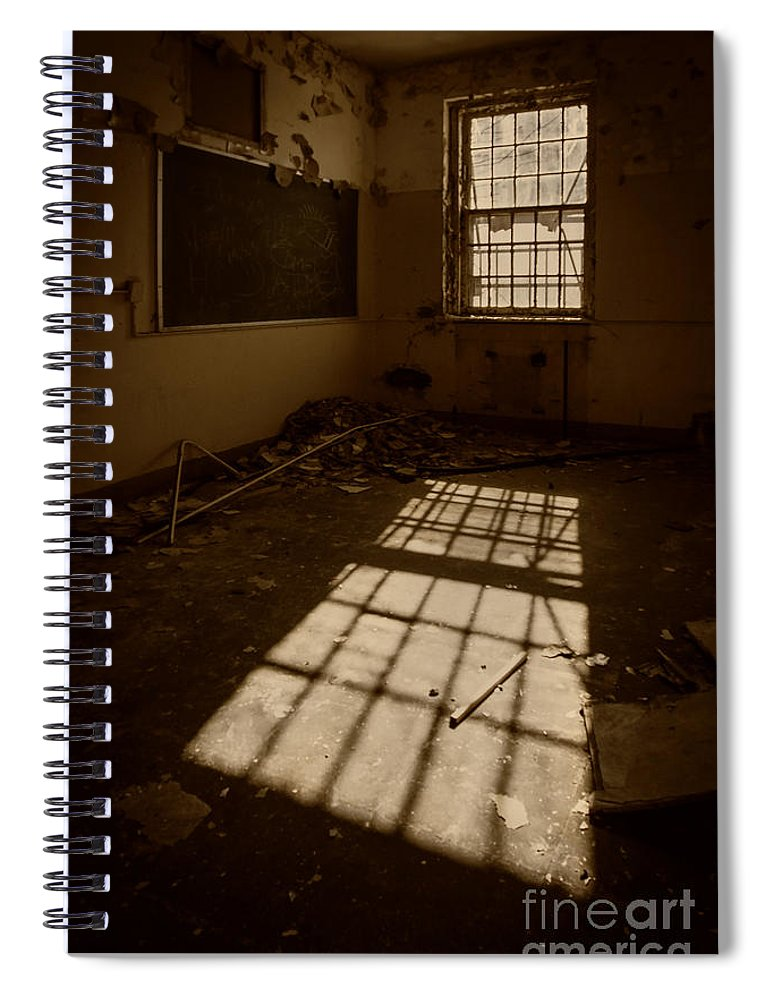 Urbex Spiral Notebook featuring the photograph The Echo Of Emptiness by Evelina Kremsdorf