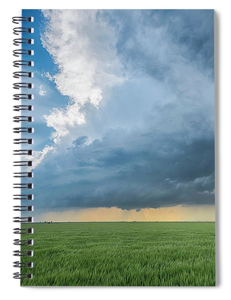Scenics Spiral Notebook featuring the photograph The Edge by Www.dennisoswald.de